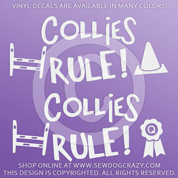 Collies Rule Car Decals