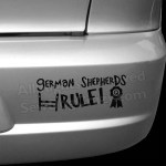 German Shepherds Rule Car Decal