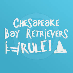 Dog Sports Chesapeake Bay Retriever Decal