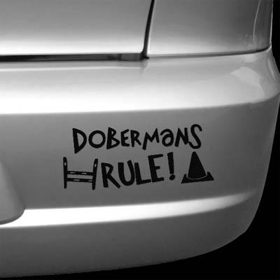 Doberman Dog Sports Vinyl Sticker