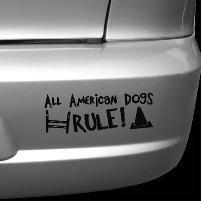 Die cut Vinyl All American Dog Stickers