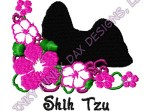 Pretty Shih Tzu Embroidery