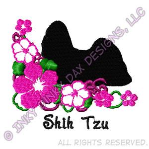 Pretty Shih Tzu Embroidery