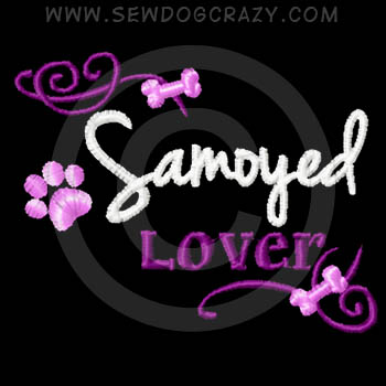 Pretty Embroidered Samoyed Lover Shirts