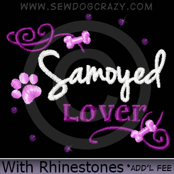 Rhinestones Samoyed Lover Shirts