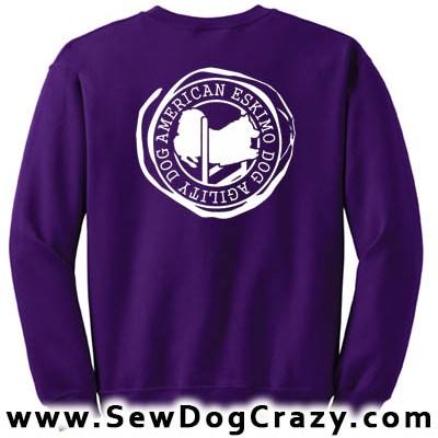 American Eskimo Agility Dog Sweatshirt