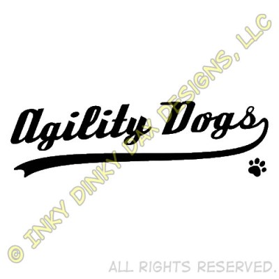 Baseball Agility Dog Logo