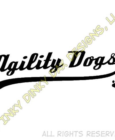 Baseball Agility Dog Logo