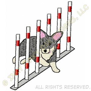 Weave Pole Vallhund Agility Apparel