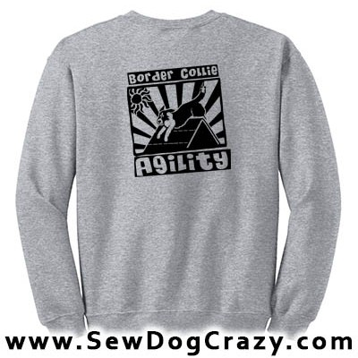Fun Border Collie Agility Sweatshirts
