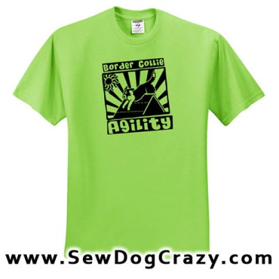Fun Border Collie Agility Tshirts