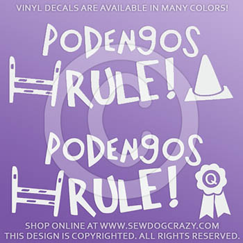 Portuguese Podengo Dog Sports Decals