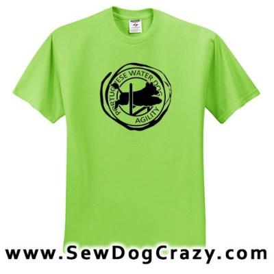 Agility Portuguese Water Dog Tshirt