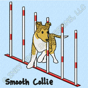 Smooth Collie Embroidered Apparel