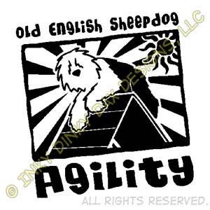 Funny Cartoon Old English Sheepdog Agility Apparel
