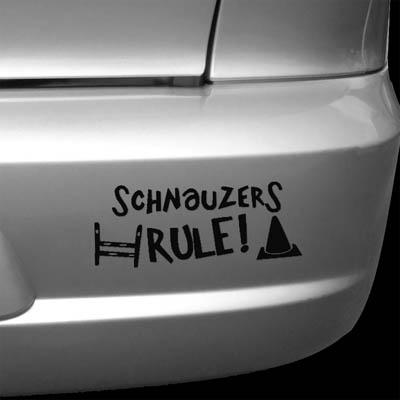 Schnauzer Agility Rally-O Decals