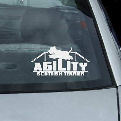 Agility Scottie Decals