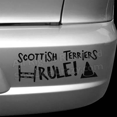 Scottish Terriers Rule Bumper Stickers
