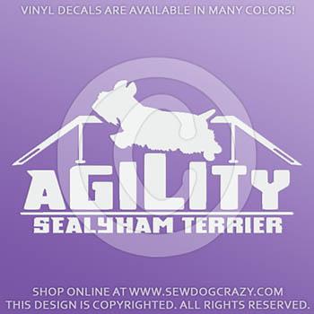 Vinyl Sealyham Terrier Agility Decals