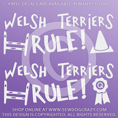 Welsh Terriers Rule Dog Sports Car Decals