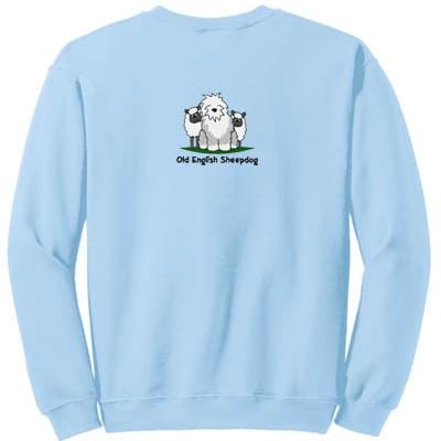 Embroidered Old English Sheepdog Sweatshirt