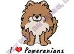 Cute Cartoon Pomeranian Embroidery