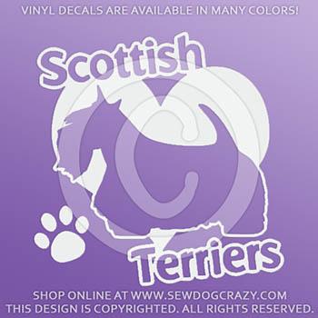 Love Scottish Terriers Car Decals