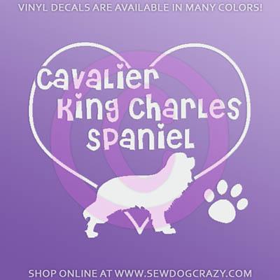 I Love Cavalier King Charles Spaniel Decal