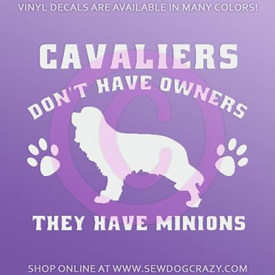 Cavalier Minions Funny Car Window Sticker