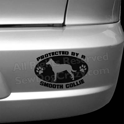 Protected by a Smooth Collie Bumper Sticker