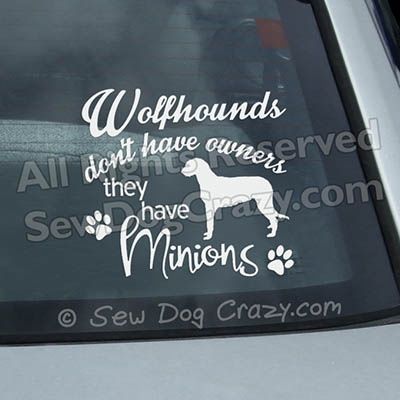 Irish Wolfhound Car Window Stickers