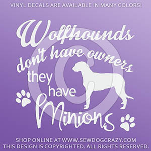 Funny Irish Wolfhound Decals