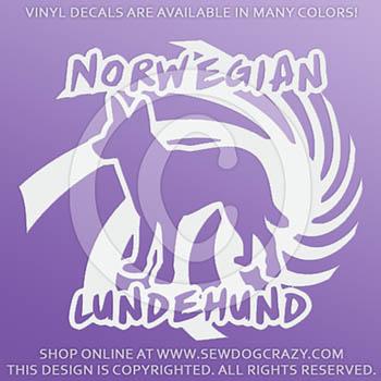 Norwegian Lundehund Vinyl Stickers