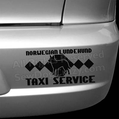 Lundehund Taxi Bumper Stickers