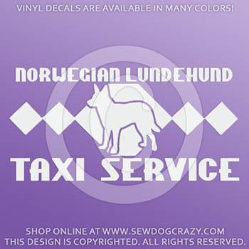 Lundehund Taxi Car Decals