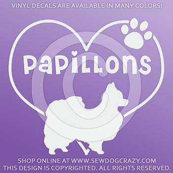 Love Papillons Vinyl Sticker