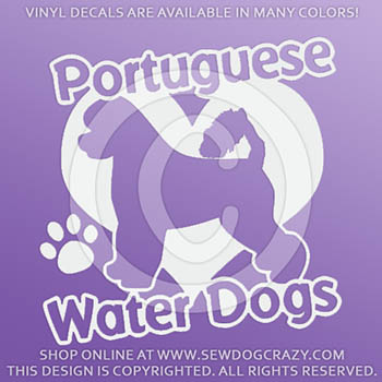 Love Portuguese Water Dogs Decal