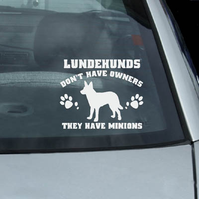 Funny Norwegian Lundehund Decals