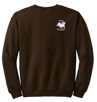 PBGVs Leave Paw Prints On Our Hearts Sweatshirt