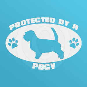 Protected by a PBGV Car Decal