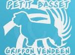 Spiral Petit Basset Griffon Vendeen Vinyl Stickers