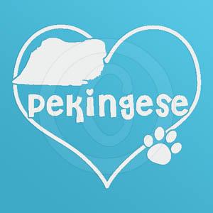 I Love Pekingese Decal