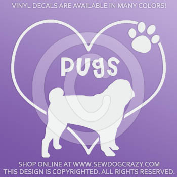 Vinyl Love Pugs Decal