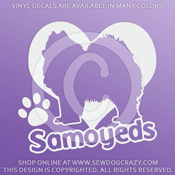 Love Samoyeds Car Decals