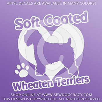 Love Wheaten Terrier Vinyl Stickers