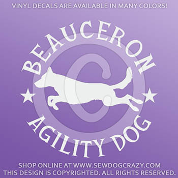 Beauceron Agility Decals