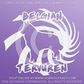 Vinyl Belgian Tervuren Decals