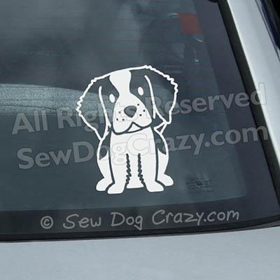 Cartoon Brittany Dog Decals