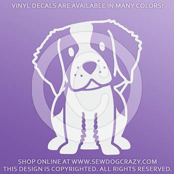 Cartoon Brittany Dog Vinyl Decals
