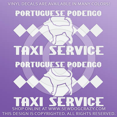 Portuguese Podengo Tax Car Stickers